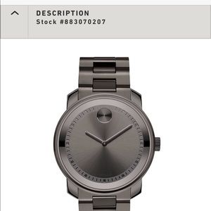 Authentic Men's Movado BOLD NWT